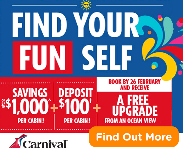 2017 Wave Season Cruise Special: Carnival Cruises Find Your Fun Self